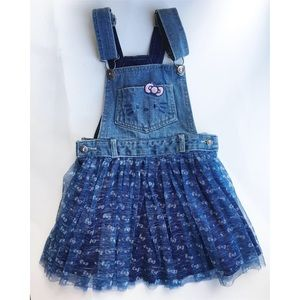Hello kitty 4t tulle overall dress